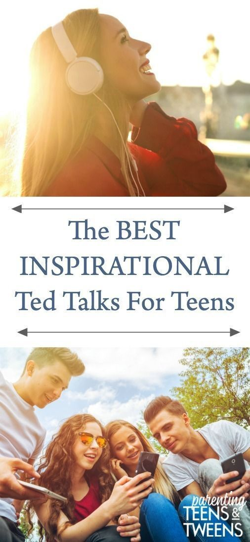 Photo of The Best Inspirational Ted Talks for Teens.  #TedTalks #Teens #Tweens #TeenGirls…