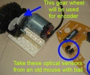 Gear with optical encoder on a gear wheel | Do It yourself
