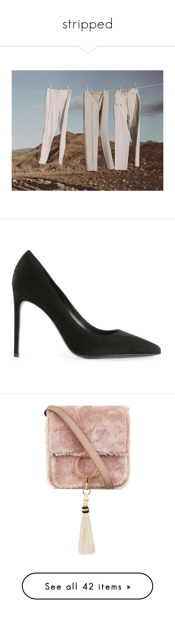 """""""stripped"""" by outfitx ❤ liked on Polyvore featuring pictures, shoes, pumps, store, black, high heel stilettos, pointy toe pumps, black leather shoes, black pointy toe pumps and pointed toe stilettos"""