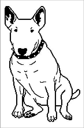 Bull Terrier graphghan pattern by CraftingByKirsti on Etsy