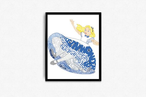 Typography Poster  Alice in Wonderland Poster  by LeftoverPaper, $6.00
