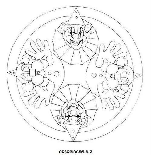 Mandala Da Colorare I Pagliacci Mandala Disegni Di Mandala Da