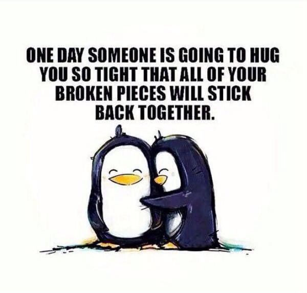 Awwww penguin love