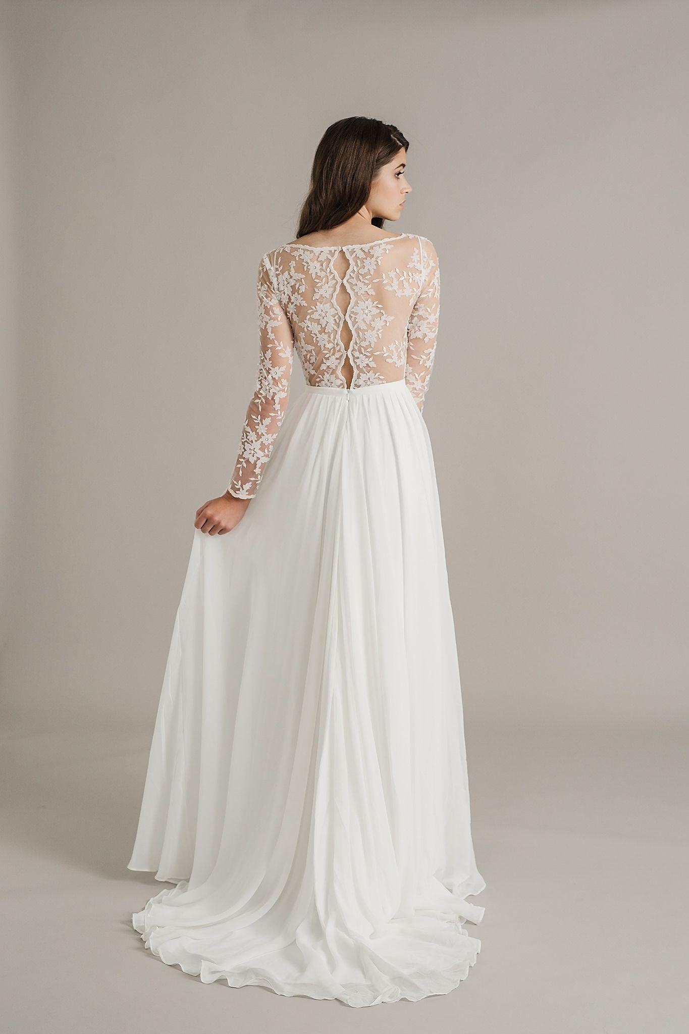 Dusk The Stunning Sally Eagle Wedding Collection Paper Lace Trendy Wedding Dresses Wedding Dress Long Sleeve Wedding Dresses