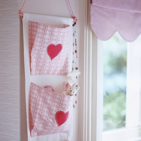 Be smart with wall space Hanging cloth storage pockets