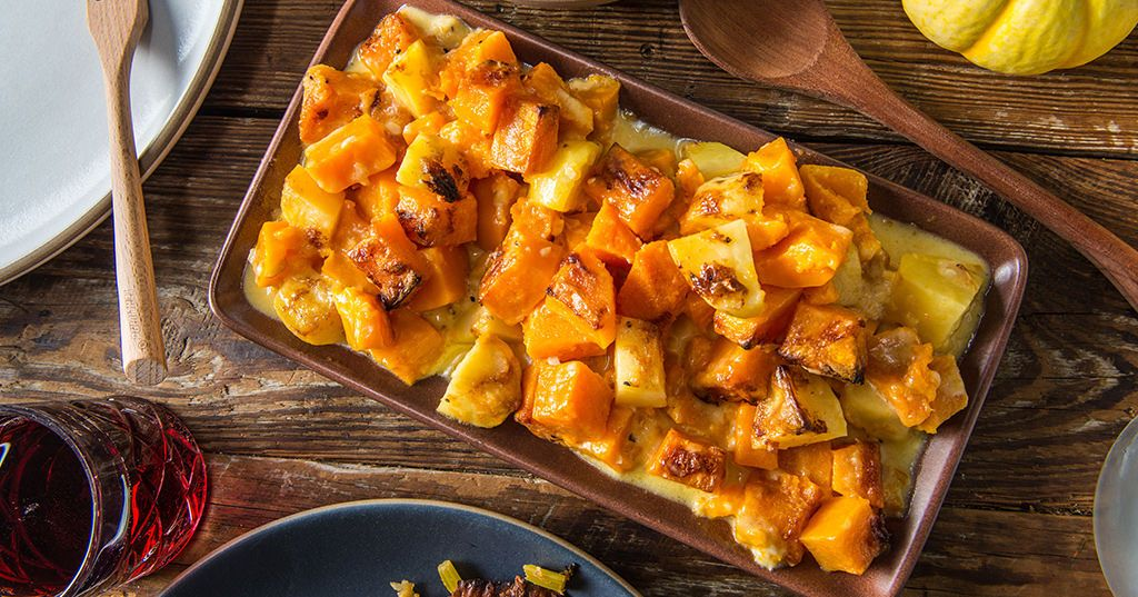 Baked winter squash au gratin recipe food recipes