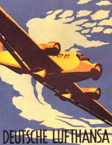 Lufthansa 1936 Germany - Mad Men Art: The 1891-1970 Vintage Advertisement Art Collection