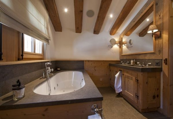 Badezimmer Holz Rustikal Landhaus Cabin Bathrooms, Chalet Style, Bathroom  Styling, Bathroom Ideas,
