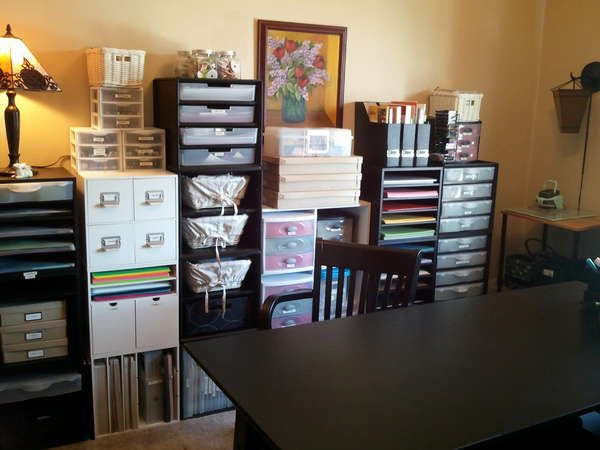 Another Organized Scrapbook Room Scrapbook Rooms And Organization