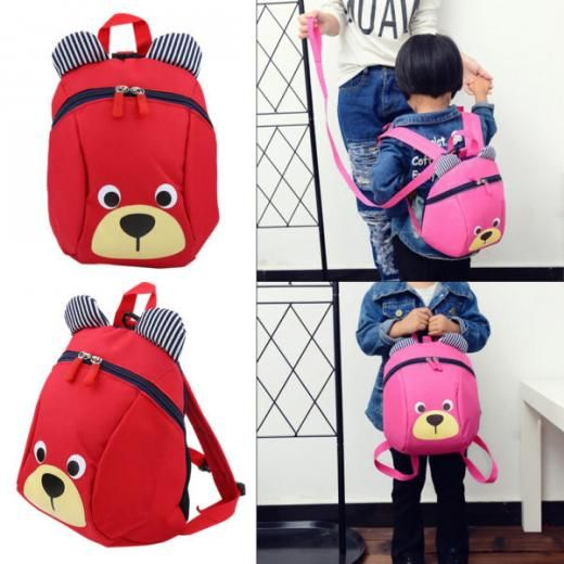 Baby Kids Toddler Walking Safety Harness Strap Anti-lost Leash Cartoon Backpack