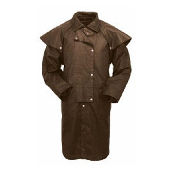 Men S Outback Western Duster Coat Oilskin Oilskin Duster Coat