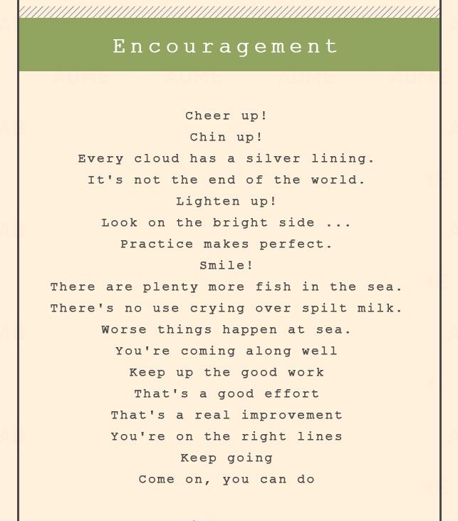 Encouragement Adjectives For Encouragement Quotes About