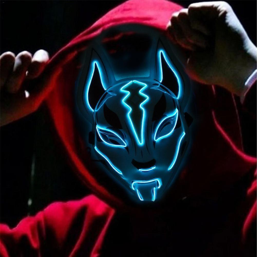 Fox Full Face Neon Mask Light In 2020