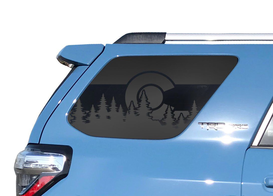 Toyota 4runner Colorado Forest Trees American Flag Decals For 5th Gen Side Windows Camping Flag Outdoor Tf17 By Thepaddockfac Toyota 4runner 4runner Toyota [ 781 x 1089 Pixel ]