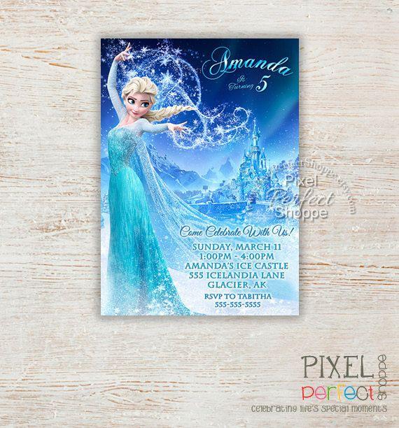 FROZEN BIRTHDAY INVITATION, Frozen Invitation, Birthday Invitation - invitation birthday frozen
