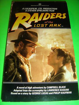 RAIDERS OF THE LOST ARK APRIL 1981 1ST PBO MOVIE BOOK