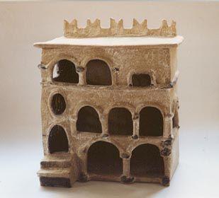 römer haus model ceramics 2002 by s.meissner