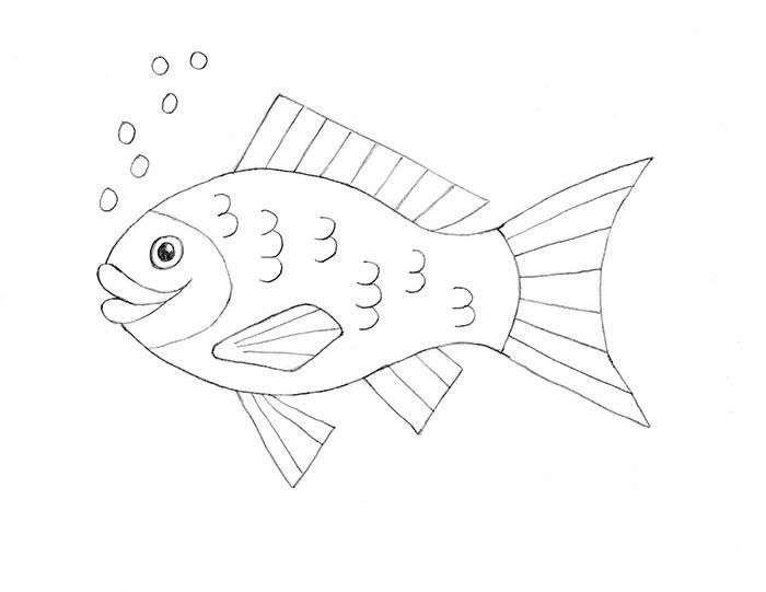 How To Draw A Fish Drawn Fish Easy Fish Drawing Fish Drawings