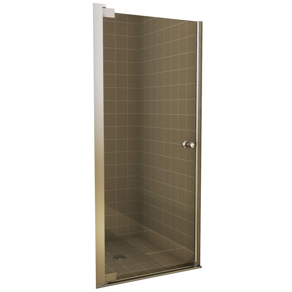 Insight Pivot Shower Door 28 1 2 30 1 2 Inches Shower Doors Home Depot Glass Shower Doors