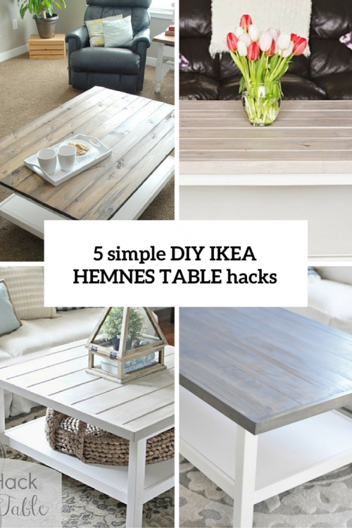 5 simple diy ikea hemnes coffee table hacks shelterness haus wohnzimmer pinterest. Black Bedroom Furniture Sets. Home Design Ideas
