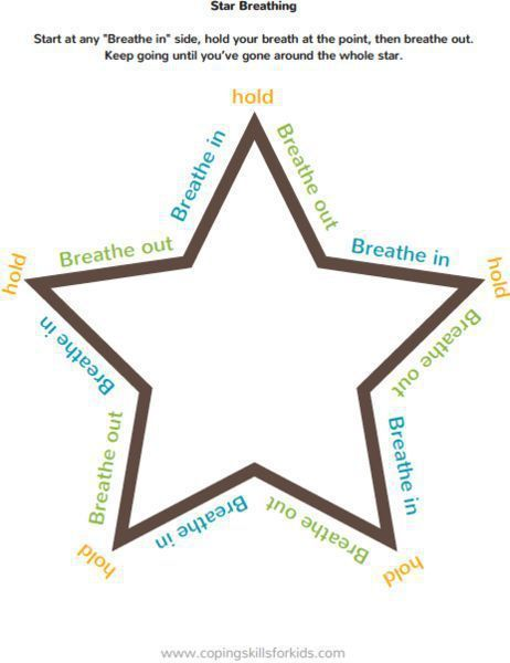 Stress management : Stress management : Free visuals to help teach deep breathing. There are 4 simpl