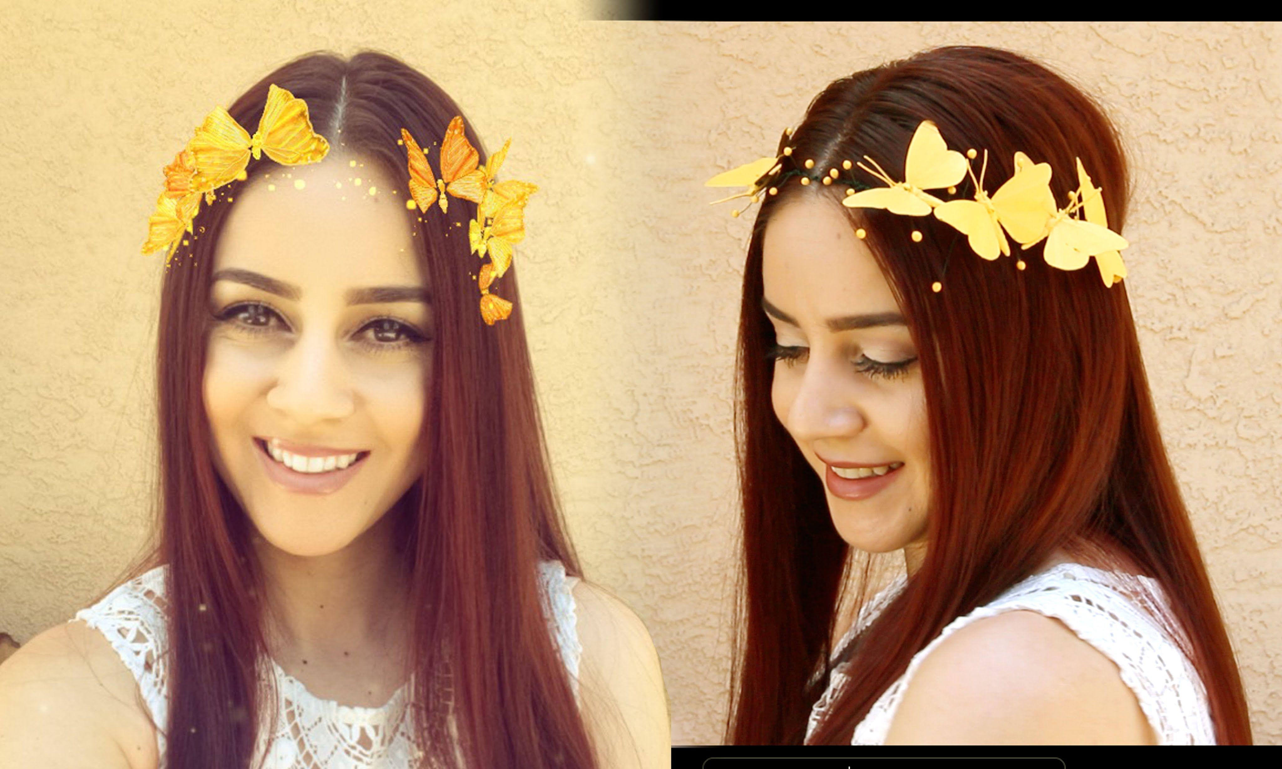 dc831e79990 DIY Snapchat Butterfly Crown