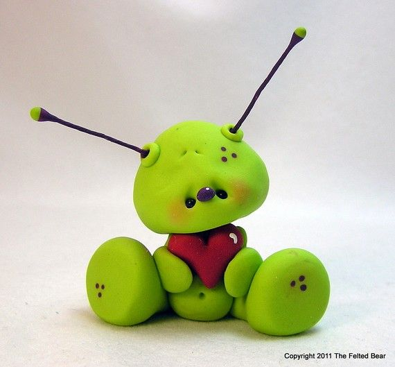 You are out of this World  OOAK Alien Valentine por AleciaEdwards