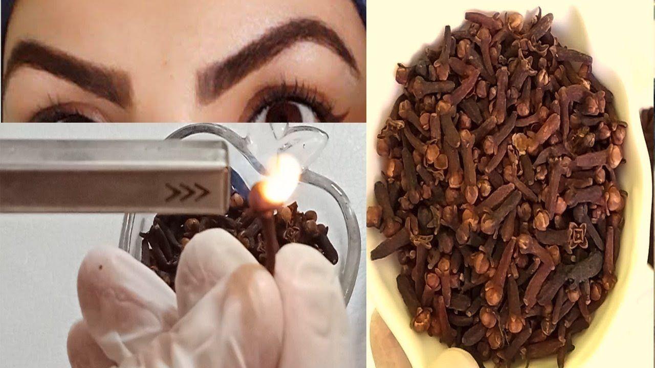 كثفي شعر حواجبك بسرعة واحرقي عود قرنفل ينبت الفراغات يعالج الشيب طريق In 2021 How To Dry Basil Chocolate Herbs