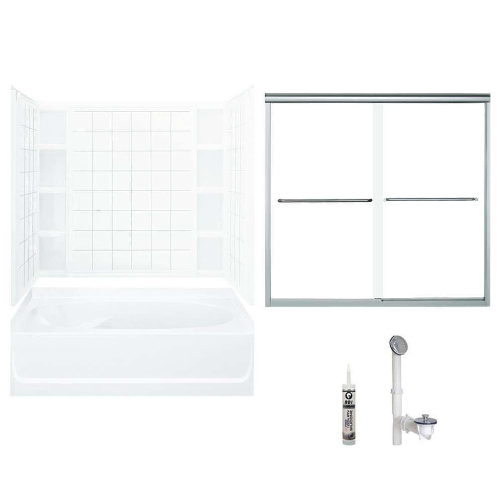 Sterling Ensemble 42 In X 60 In X 70 25 In Bath And Shower Kit