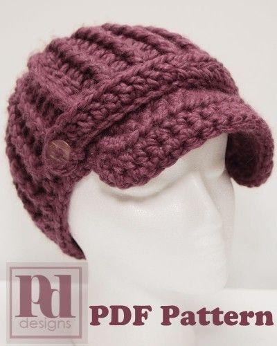 5e9304127e4 crochet ribbed newsboy hat with band