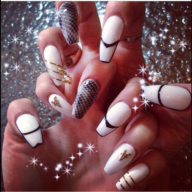 Squoval nail art - Squoval Nail Art Nails Pinterest Nail Nail, Makeup And Nails