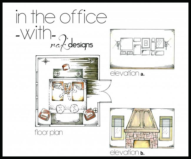 Office Floor Plans And Elevation Drawings Love The Double Chaise Www Rak Designs Com Kristin Rieke Office Floor Plan Office Interior Design Floor Plans