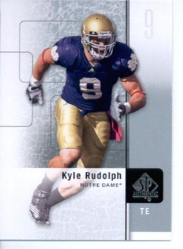 2011 SP Authentic Football Cards # 90 Kyle Rudolph RC - Notre Dame Fighting Irish (RC - Rookie Card) Minnesota Vikings  (ENCASED NFL Trading Card) by 2011 SP Authentic. $3.95. 2001 SP Authentic Football Cards # 90 Kyle Rudolph RC - Notre Dame Fighting Irish (RC - Rookie Card) Minnesota Vikings  (ENCASED NFL Trading Card)
