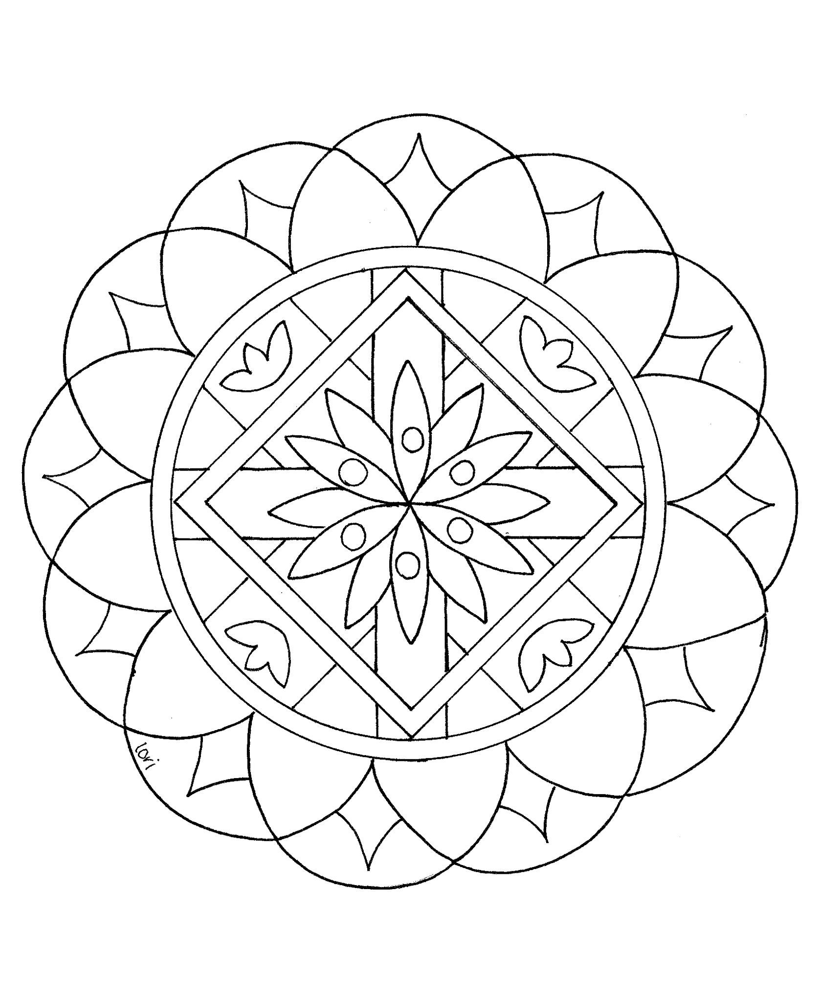 Mandalas for Kids is part of Mandalas for kids, Simple mandala, Mandala coloring, Easy mandala drawing, Simple mandala design, Mandala drawing - Easy Mandala coloring pages are a great way to start your kids on the practice of meditation  These Mandalas for kids are cute, fun and easy to color  The Mandala is a representation of the universe in Buddhism and the Hindu religion  A Mandala is used as a focusing tool to connect spiritually to the …