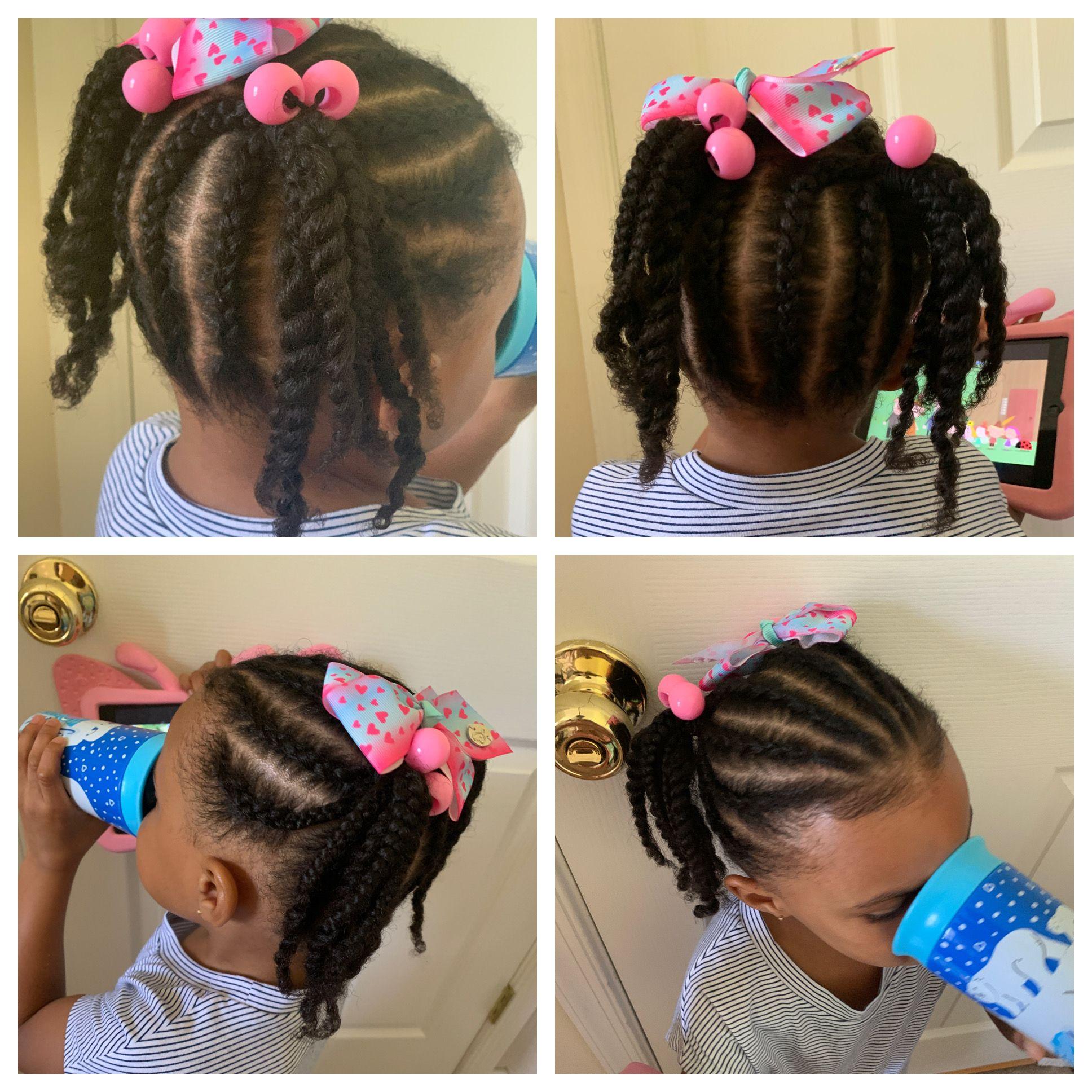 Little Girls Braided Hairstyle Akaramel Kiss Little Girl Braids Little Girl Braid Hairstyles Kids Hairstyles