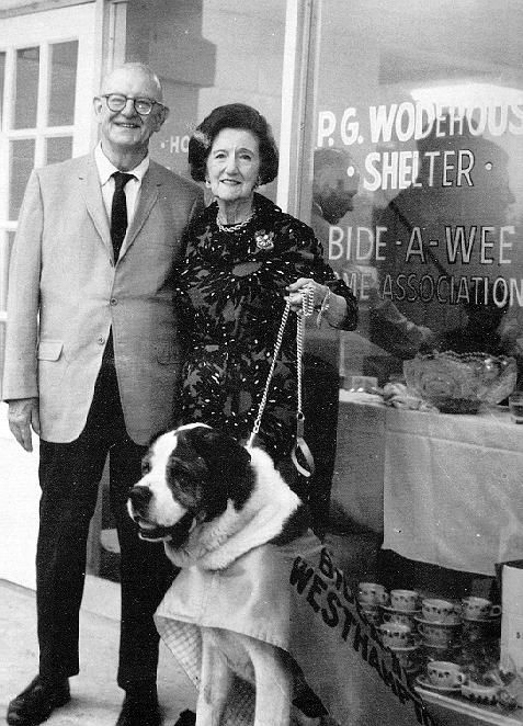 Wodehouse Ethel And Dog At The P G Wodehouse Shelter For Stray Animals At Westhampton On Long Island Favorite Authors P G Wodehouse Book Authors