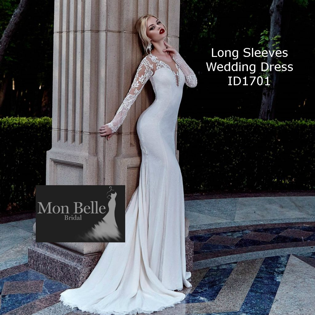 Long sleeve slim fitting lace wedding dress id1701 wedding looking for the latest designs in wedding dresses perth brides we love to share your excitement in finding your dream wedding dress ombrellifo Images