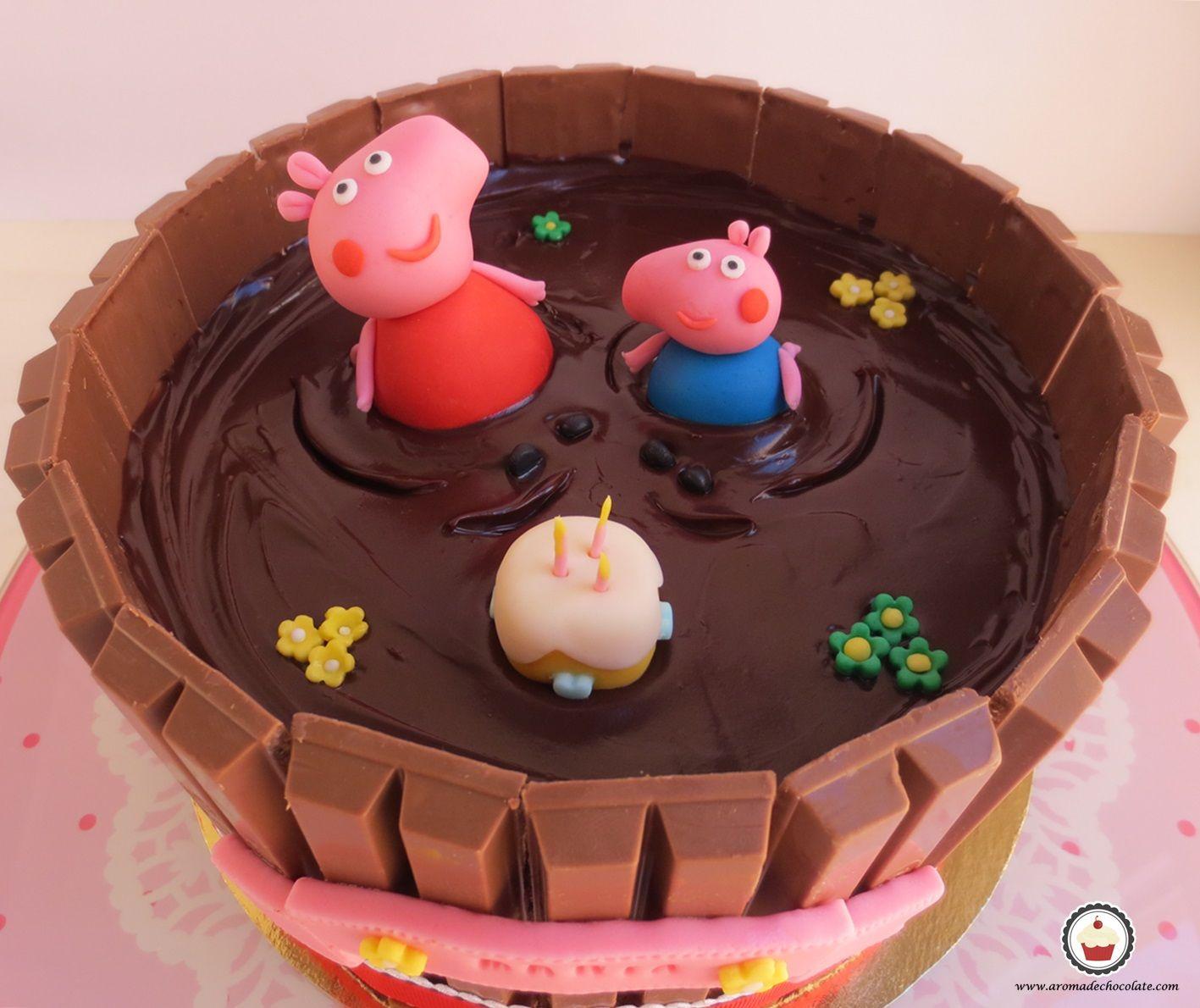 TARTA PEPPA PIG Tartas de peppa pig Tarta de cumpleaños