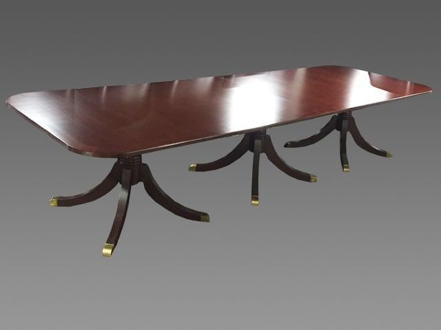 Cherry Veneer Traditional Conference Table W Brass Feet Pre - Traditional conference table