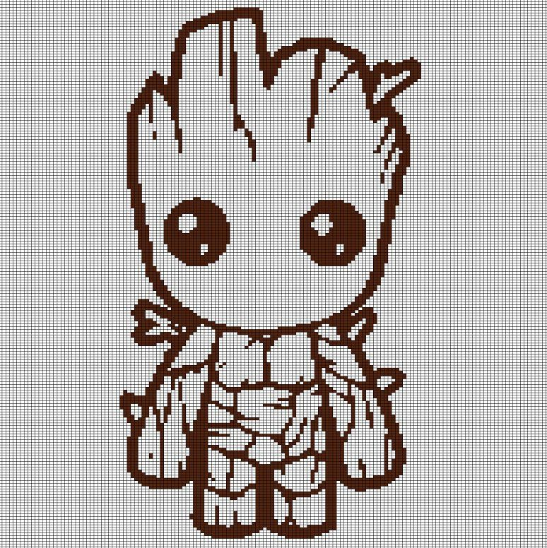LITTLE+GROOT+CROCHET+AFGHAN+PATTERN+GRAPH | Punto cruz | Pinterest