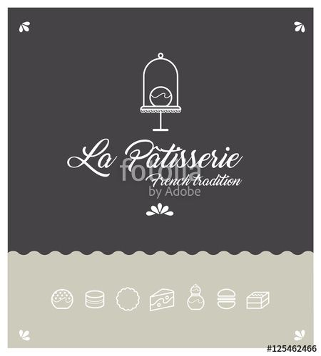Un Logo Gourmand Pour Patissier Boulanger Metier De Bouche Salon De The Logos Logo Patisserie Salon De The