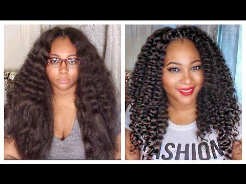 Curly Crochet Braids w/ Kanekalon Hair   Braid Pattern ...