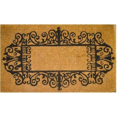 Entryways Wrought Iron Border Extra Thick Hand Woven Coir Doormat By Entryways 199 00 Extra Thick Hand Made From All Natural Coconut Fiber Door Mat