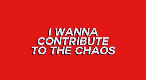 red, chaos, and quote image