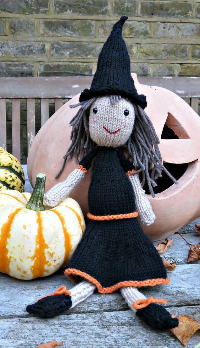 Halloween Knitting Patterns | Pinterest | Knit patterns, Witches and ...