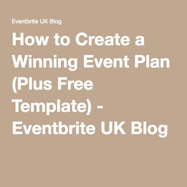 How to Create a Winning Event Plan (Plus Free Template - event plan template