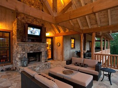 Outdoor Wood Burning Fireplace This Is Nicer Than My Front Room Lol Blue Ridge Cabin Rentals Georgia Cabin Rentals Outdoor Wood Burning Fireplace