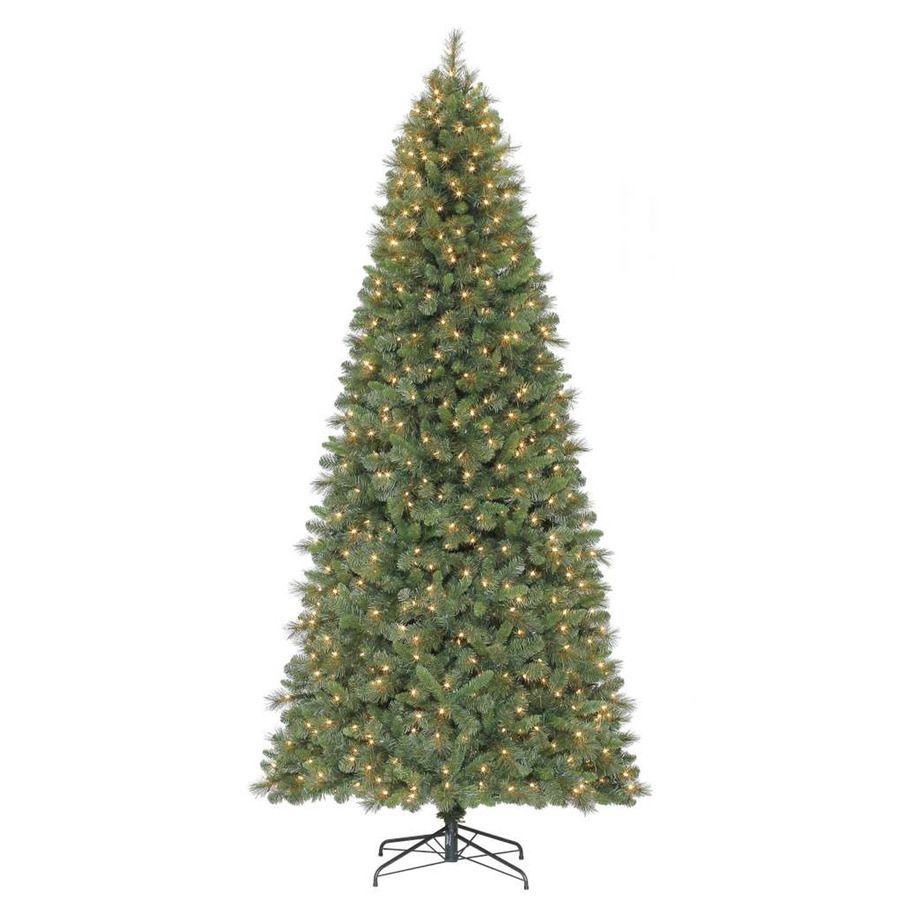 Holiday Living 9 Ft Pre Lit Robinson Fir Artificial Christmas Tree With Whi Slim Artificial Christmas Trees Artificial Christmas Tree Led Color Changing Lights