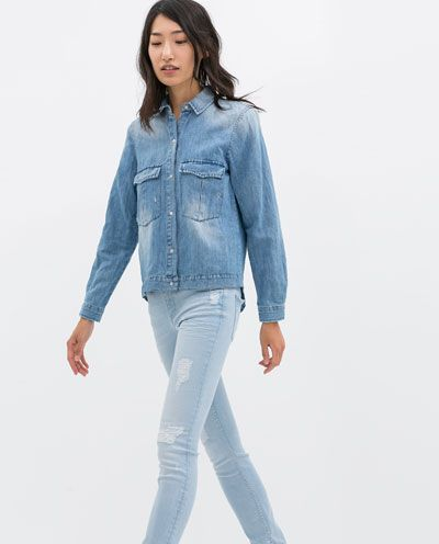 Super casual. Work-horse denim shirt with 1950s vibe.