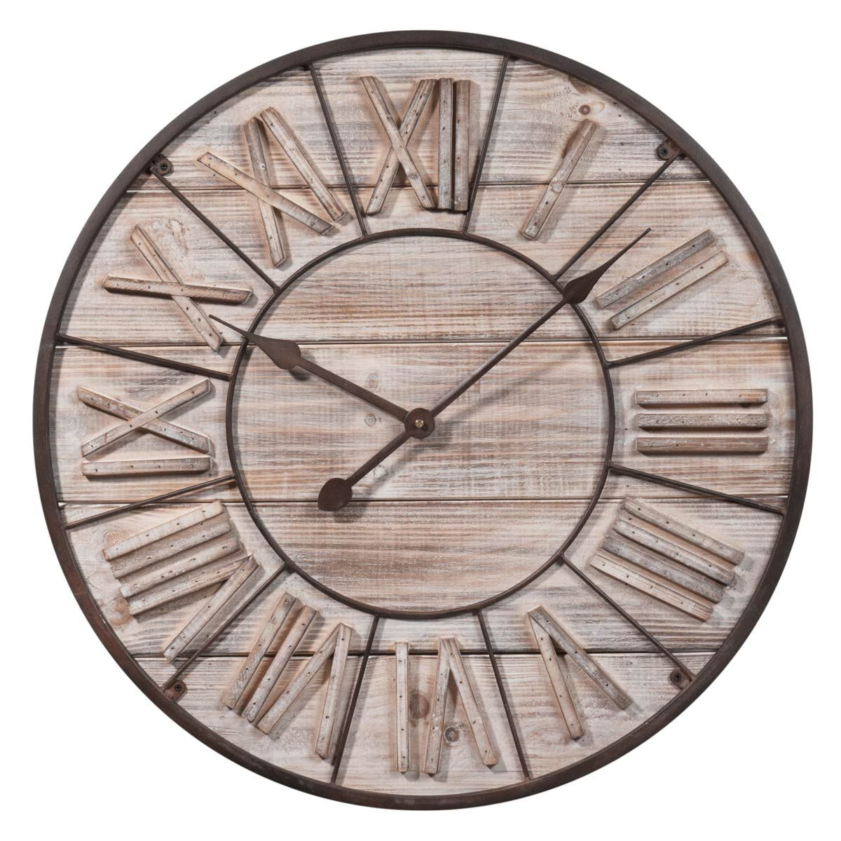 horloge en bois d 60 cm toscana maisons du monde. Black Bedroom Furniture Sets. Home Design Ideas